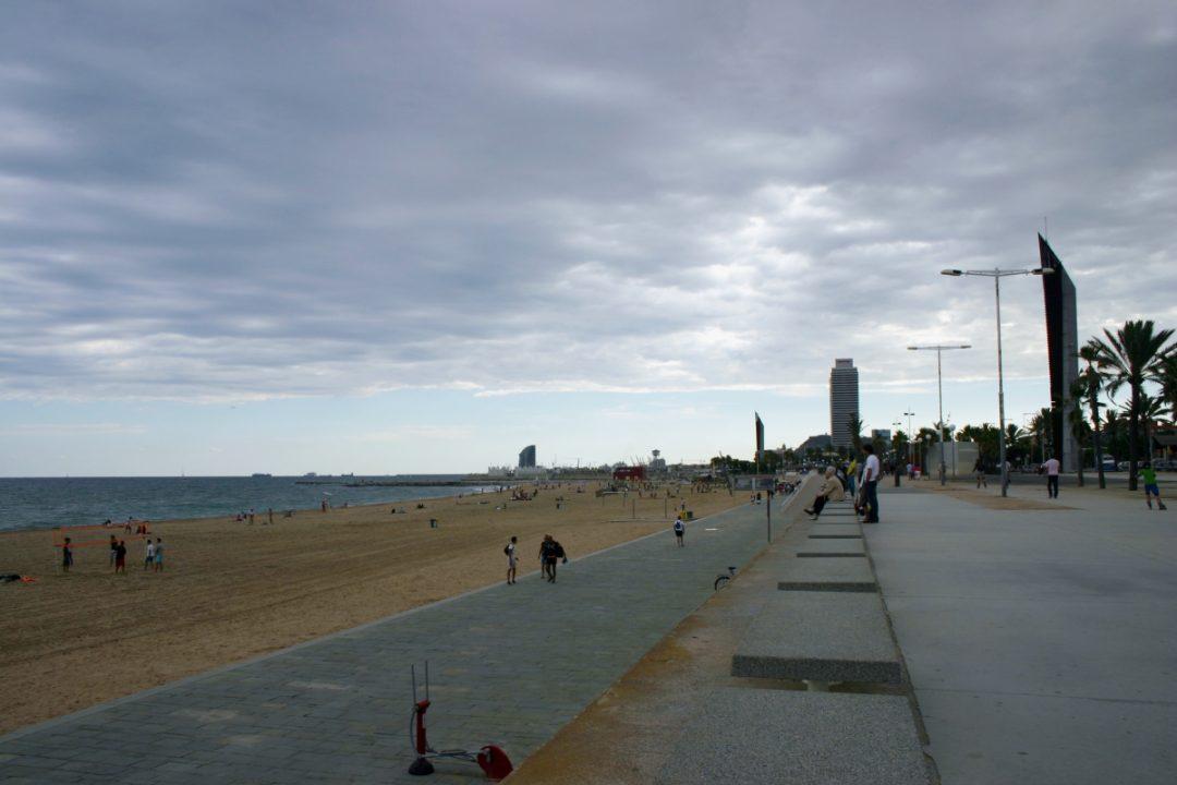Il lungo mare di Barcellona