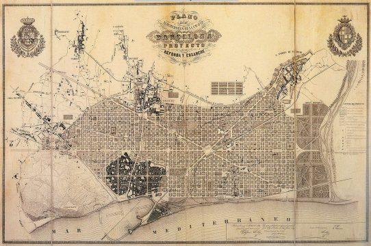 Il Piano Cerdà per ampliare Barcellona - By Ildefons Cerdà i Sunyer - Museu d'Historia de la Ciutat, Barcelona., Domini públic, https://commons.wikimedia.org/w/index.php?curid=6692047
